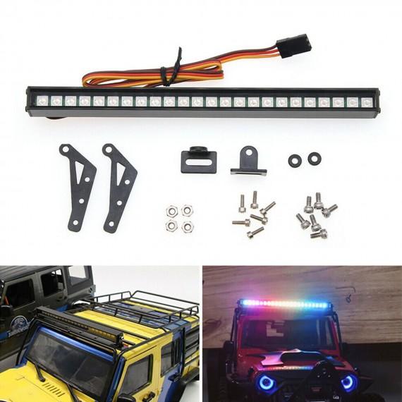 Colorido 18 LED Luz Lámpara Barra Techo para 1/10 SCX10 radio control sobre orugas coche Traxxas TRX4