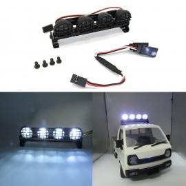 RC Car Spotlight Flashlight LED Lamp Roof Dome Light for 1:12, 1:10, WPL D12 Car