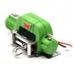 Electric Winch+Controller Metal Kit for1:10 RC Car Crawlers TRX-4 TRX4 D90 SCX10 VERDE
