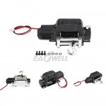 Electric Winch+Controller Metal Kit for1:10 RC Car Crawlers TRX-4 TRX4 D90 SCX10 NEGRO