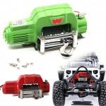 Electric Winch+Controller Metal Kit for1:10 RC Car Crawlers TRX-4 TRX4 D90 SCX10 ROJO