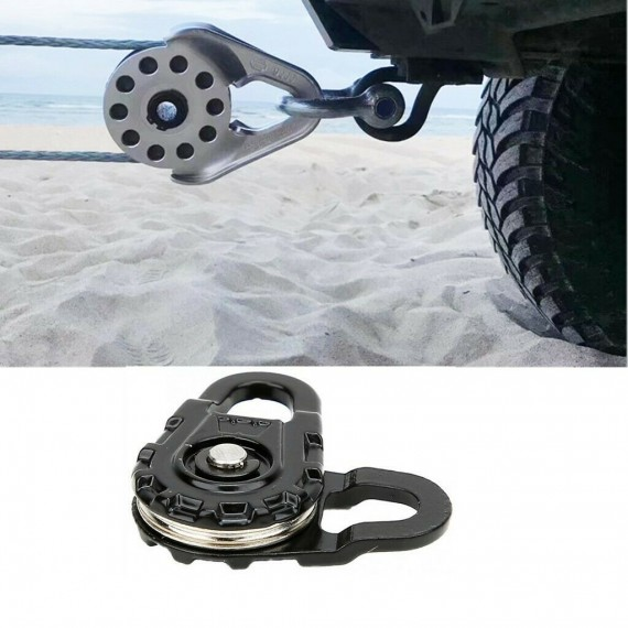RC Car Heavy Duty Winch Snatch Block Black 1:10 Vehicle Crawler Model