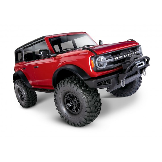 Traxxas TRX-4 1/10 Trail Crawler Truck w/2021 Ford Bronco Body (Red) w/TQi 2.4GHz Radio