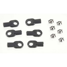 Traxxas Rod Ends w/Connectors LS2 (6)