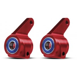 Traxxas Aluminum Steering Blocks Red Rustler/Stampede