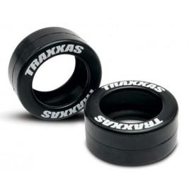 Traxxas Rubber Tires Wheelie Bar Wheels (2)