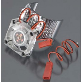 Integy Motor Heatsink w/Cooling Fan Silver Slash/Stmped