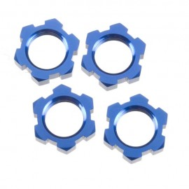 Traxxas 17mm Splined Wheel Nuts Anodized Blue (4)