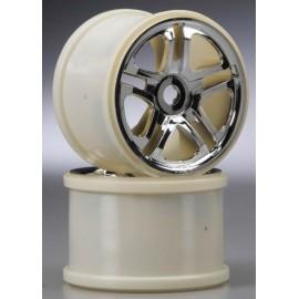 """Traxxas Split Spoke 3.8"""" Wheel Chrome T/E-Maxx/Revo (2)"""
