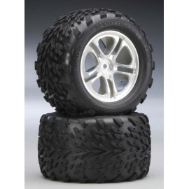 "Traxxas Talon 3.8"" Tires On 5-Spoke T-Maxx/Revo (2)"