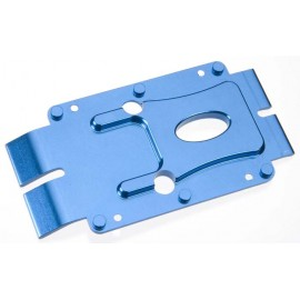 Golden Horizons Alum Center Skid Plate Blue E-Maxx 3905
