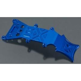 Integy Billet Mach Aluminum Fr Skid Plate Blue T/E-Maxx
