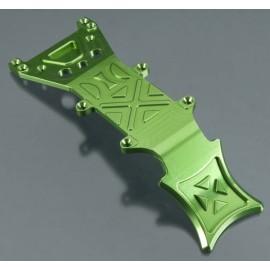 Integy Billet Mach Aluminum Fr Skid Plate Grn T/E-Maxx