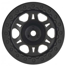 "Pro-Line Split Six 2.2""/3.0"" Black One-Piece Rear Wheel"