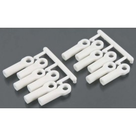 RPM Rod Ends Long White 1/10 Traxxas Nitro Slash