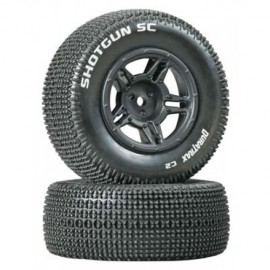 Duratrax Shotgun SC Tire C2 Mounted Black Rear Slash(2)