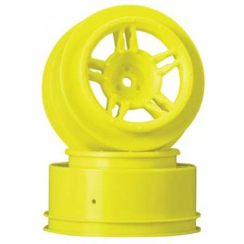 Duratrax SC Wheel Yellow Front Slash (2)