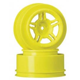 Duratrax SC Wheel Yellow Rear Slash Blitz SCRT10 (2)