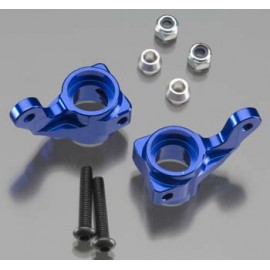 Integy 09 Alloy Front Steering Block Blue Slash (2)