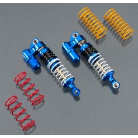 Integy Billet Machined XSR5 Piggyback Front Shock Blu(2